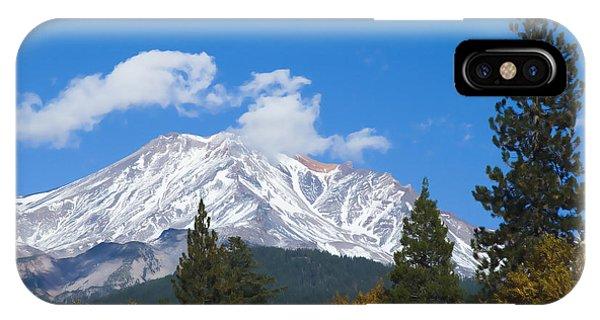 Mount Shasta California IPhone Case
