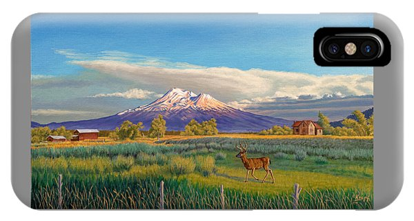 Buck iPhone Case - Mount Shasta by Paul Krapf
