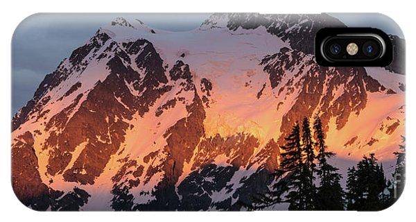 Mount Shuksan Brilliant Alpenglow IPhone Case