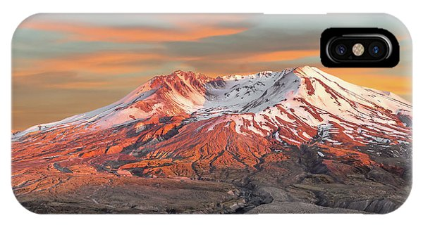 Mount St Helens Sunset Washington State IPhone Case