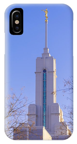 Temple iPhone Case - Mount Timpanogos Spire by Chad Dutson