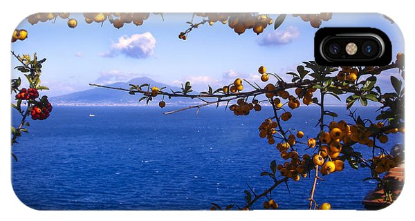 Mount Vesuvius From Sorrento IPhone Case