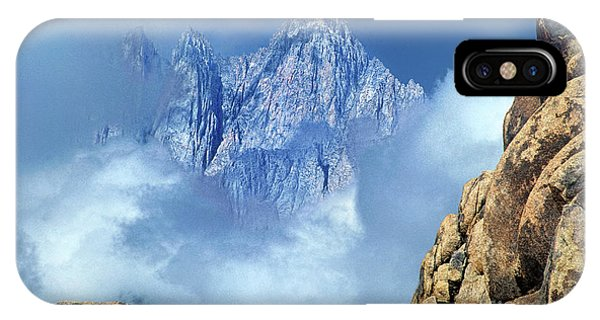 IPhone Case featuring the photograph Mount Whitney Clearing Storm Eastern Sierras California by Dave Welling