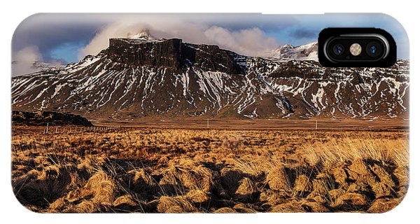 Mountain And Land, Iceland IPhone Case