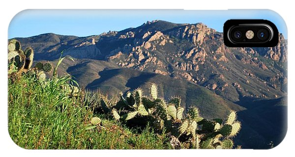 Mountain Cactus View - Santa Monica Mountains IPhone Case