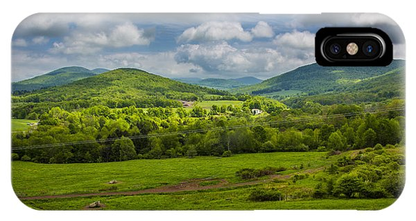 Mountain Field Of Greens IPhone Case