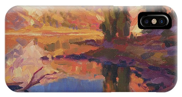 Nature Abstract iPhone Case - Mountain Lake by Steve Henderson