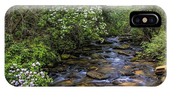 Mountain Laurels Light Up Panther Creek IPhone Case