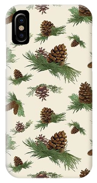 Fall iPhone Case - Mountain Lodge Cabin In The Forest - Home Decor Pine Cones by Audrey Jeanne Roberts