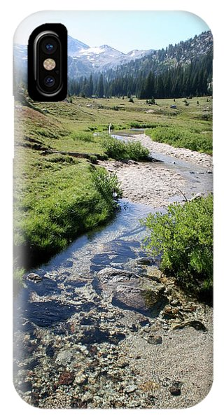 Mountain Meadow And Stream IPhone Case