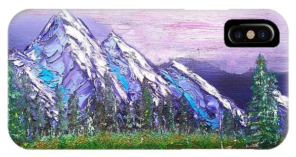 Mountain Meadow Landscape Scene IPhone Case
