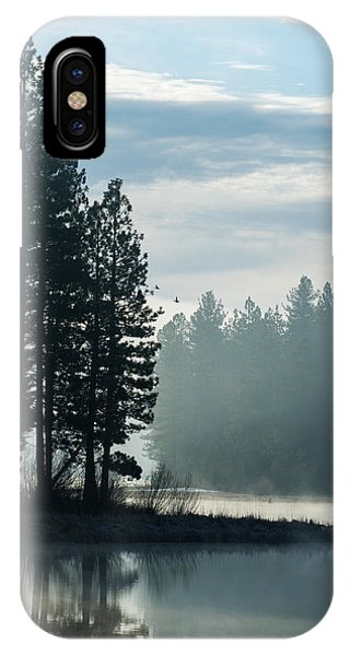 IPhone Case featuring the photograph Mountain Meadows Reservoir At Dawn by The Couso Collection