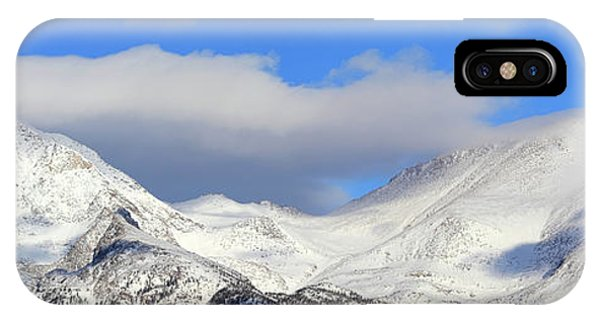 IPhone Case featuring the photograph Mountain Peaks - Panorama by Shane Bechler
