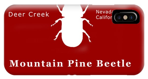 Mountain Pine Beetle White On Black IPhone Case