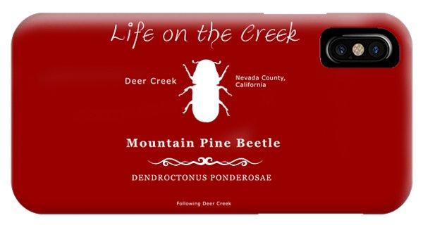 Mountain Pine Beetle White On Black IPhone Case