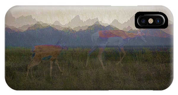 Mountain Pronghorns IPhone Case