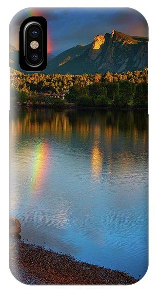 IPhone Case featuring the photograph Mountain Rainbows by John De Bord