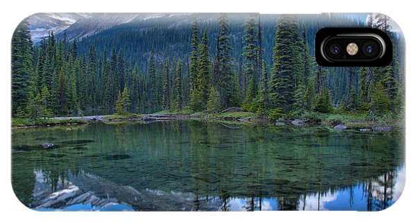 Rocky Mountain Np iPhone Case - Mountain Reflections In Yoho Lake by Adam Jewell
