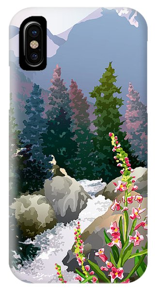 Rocky Mountain iPhone Case - Mountain Stream by Anne Gifford