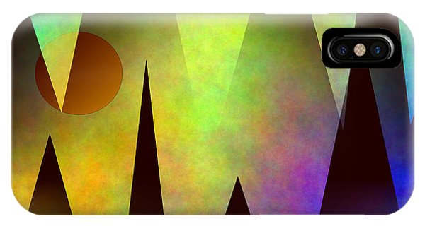 Mountain Sunset Abstract IPhone Case