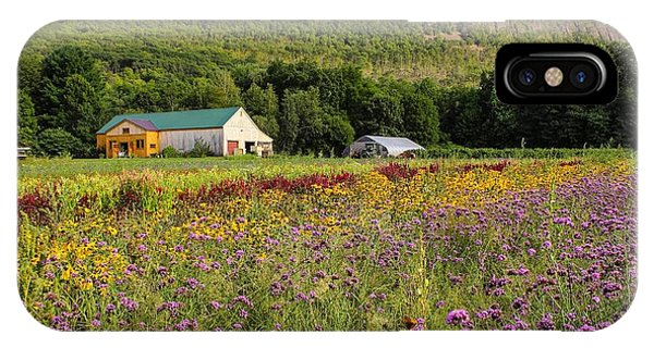 IPhone Case featuring the photograph Mountain View Farm Easthampton by Sven Kielhorn