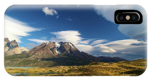 Mountains And Clouds In Patagonia IPhone Case
