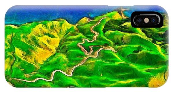 Lettuce iPhone Case - Mountains And Ocean - Da by Leonardo Digenio