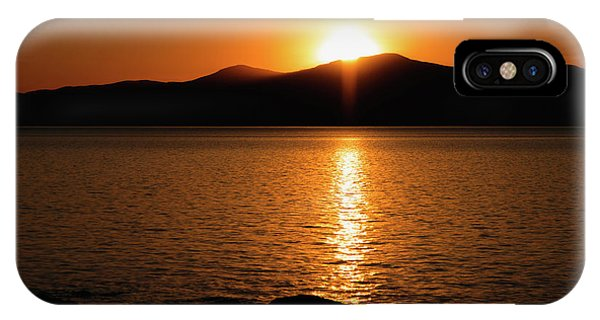 Mountains And River At Sunset IPhone Case
