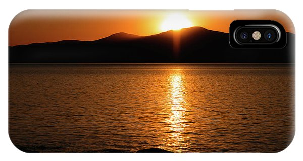IPhone Case featuring the photograph Mountains And River At Sunset by Cristina Stefan