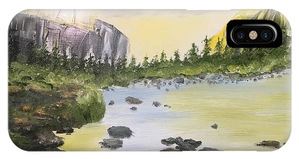 Mountains And Stream IPhone Case