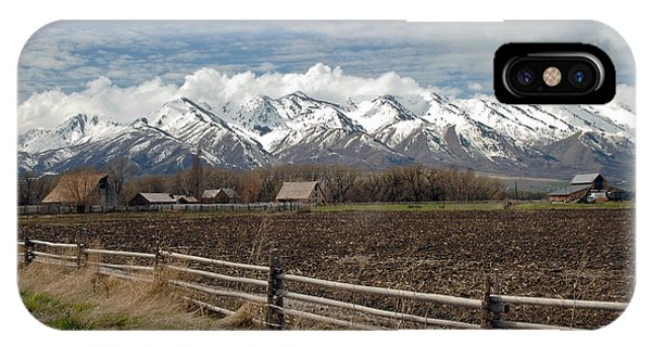 Mountains In Logan Utah IPhone Case