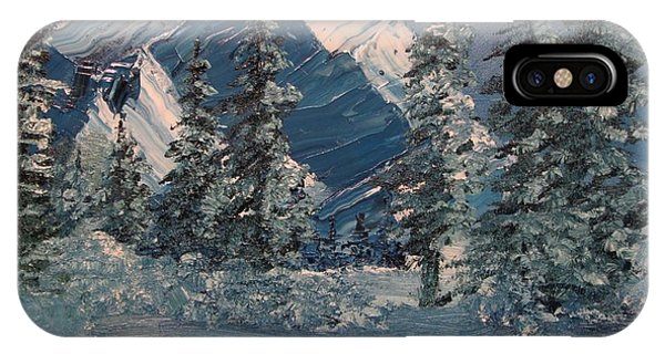 Mountains In Winter IPhone Case