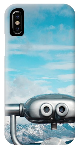 Sunny iPhone Case - Mountaintop View by Kim Fearheiley