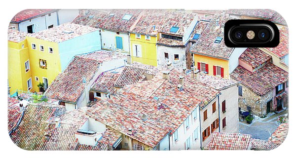 Moustiers Sainte Marie Roofs IPhone Case