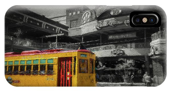 Trolley Car iPhone Case - Movico 10 And Trolley by Marvin Spates