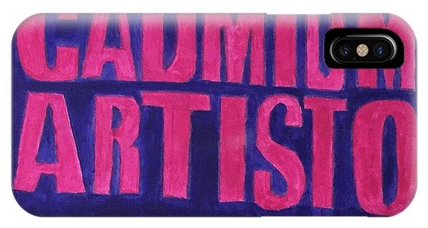 Movie Logo Cadmium Artisto IPhone Case