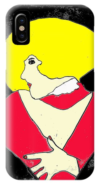 IPhone Case featuring the drawing Movie Star by W And F Kreations