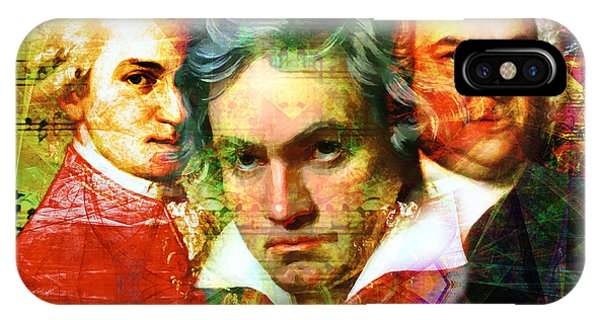 Mozart Beethoven Bach 20140128 IPhone Case