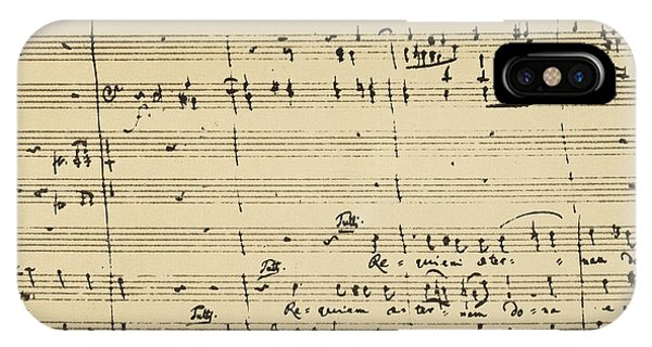 IPhone Case featuring the photograph Mozart: Requiem Excerpt by Granger