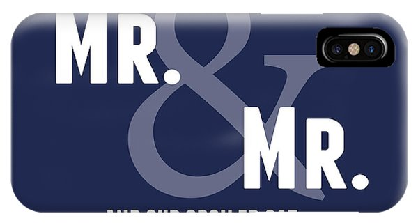 Wedding Gift iPhone Case - Mr And Mr And Cat by Linda Woods