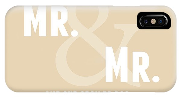 Wedding Gift iPhone Case - Mr And Mr And Dog- Sand by Linda Woods