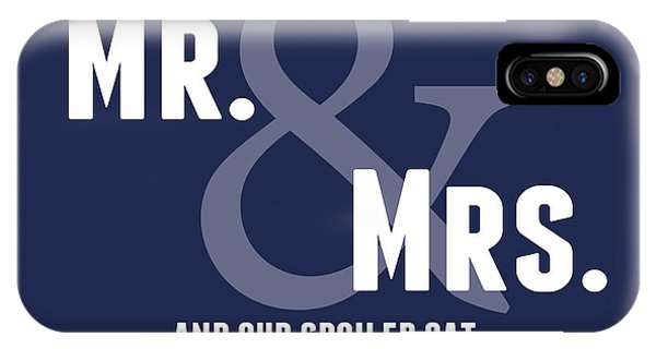Wedding Gift iPhone Case - Mr And Mrs And Cat by Linda Woods