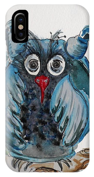 Mr. Blue Owl IPhone Case