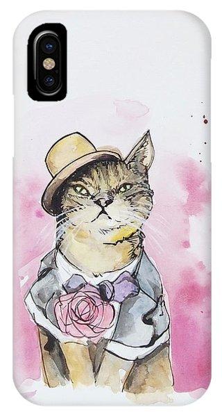 Mr Cat In Costume IPhone Case