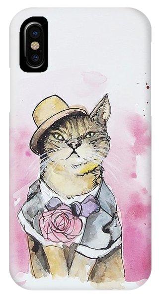 Cat iPhone Case - Mr Cat In Costume by Venie Tee