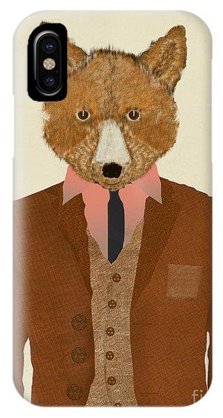 Fantastic iPhone Case - Mr Fox by Bri Buckley