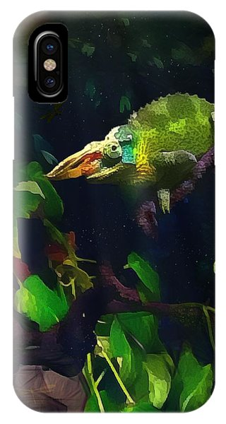 Mr. H.c. Chameleon Esquire IPhone Case