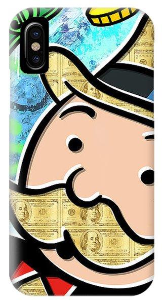 Pop-culture iPhone Case - Mr Monopoly by Canvas Cultures