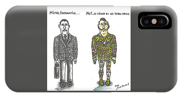 iPhone Case - Mr.c by Jacki Randall