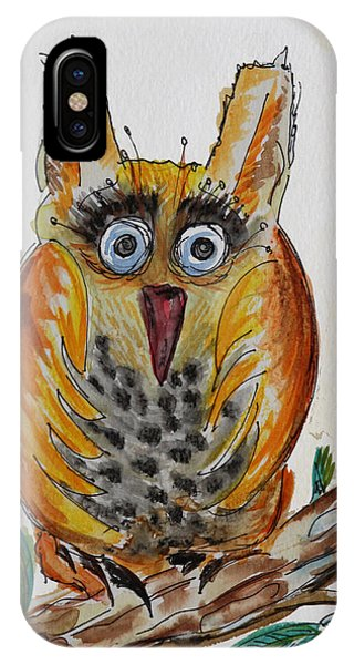 Mr.orange Owl IPhone Case